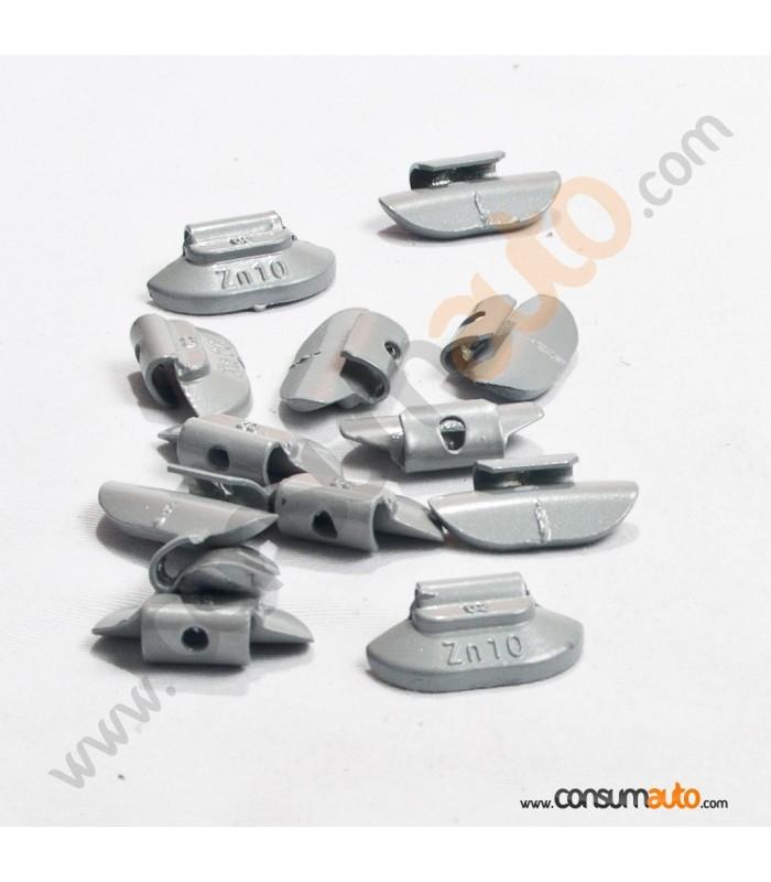 100 Contrapesas de Zinc 30Gr Llanta de Acero