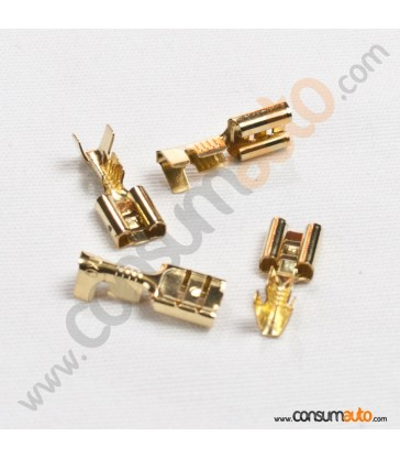 100 Terminales FastOn Hembra Desnudo 6.3mm