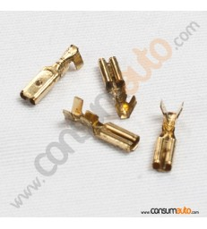 100 Terminales FastOn Hembra Desnudo 2.8mm