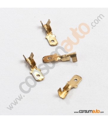 100 Terminales FastOn Macho Desnudo 4.8mm