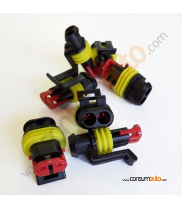 Conector estanco Super Seal 2 vias macho