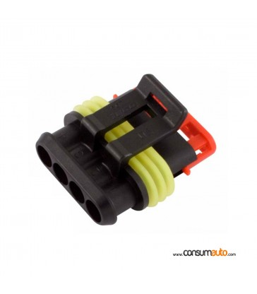Conector estanco Super Seal 4 vias macho