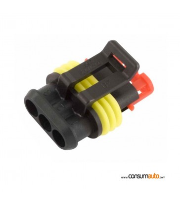 Conector estanco Super Seal 3 vias macho