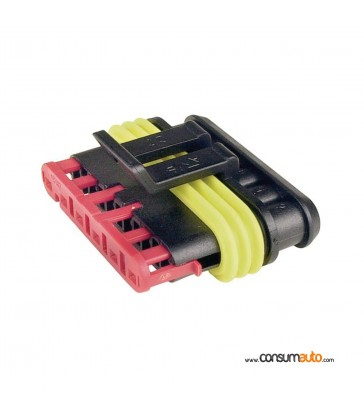 Conector estanco Super Seal 6 vias macho