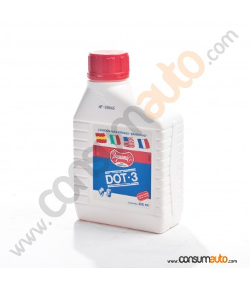 Liquido de frenos Dynamic DOT-3 Banderas 500ml.