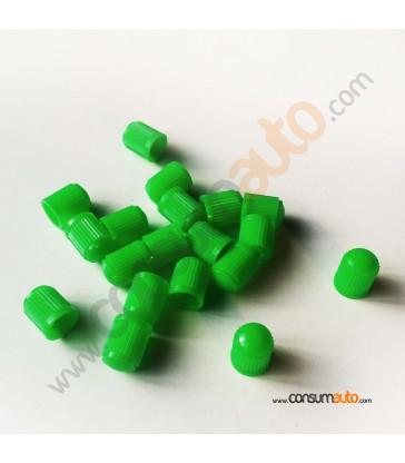 100 Tapónes válvula plástico verde para nitrógeno