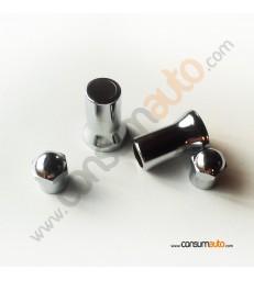Kit fundas cromadas para válvula de rueda TR-413