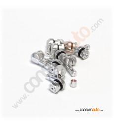 Válvula moto aluminio acodada Ducati competición