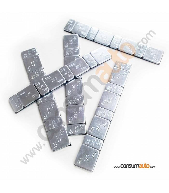100 Tiras Contrapesas Adhesivas Acero 60Gr.