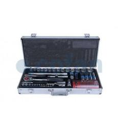 Maletín de herramientas profesional metálico 74 piezas