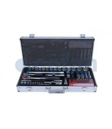 Maletín de herramientas profesional metálico 108 piezas
