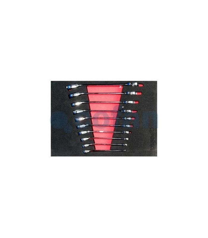 Set llaves combinadas carraca-plana 10 piezas