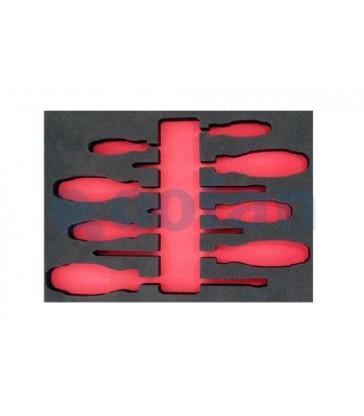 Bandeja para destornilladores 8 piezas