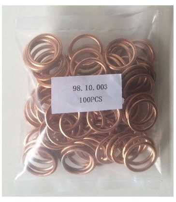 100 Juntas para tapón de cárter metaloplástica