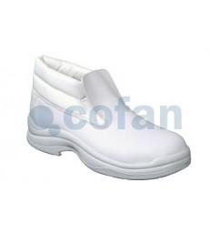 Bota de seguridad en piel blanca Baco S2