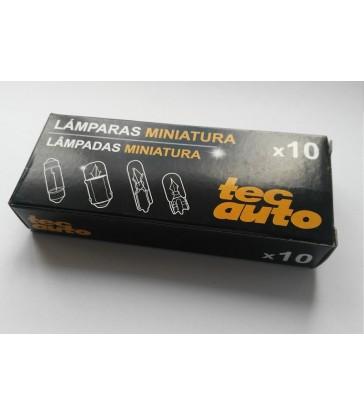 Caja 10 lámparas T-10 W5W TecAuto